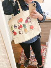 Load image into Gallery viewer, Custom Art Fruit Tote