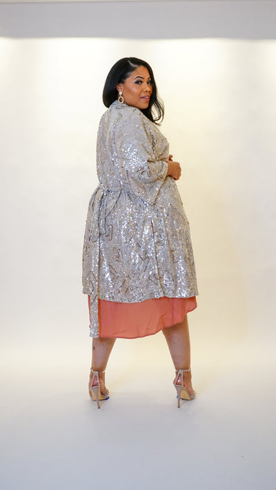 Belted Sequin Duster - VA Curve - Very Ashley