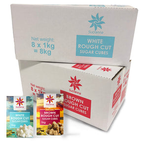 Rough Cut Brown Sugar Cubes 8x1kg - The Artisan's Choice