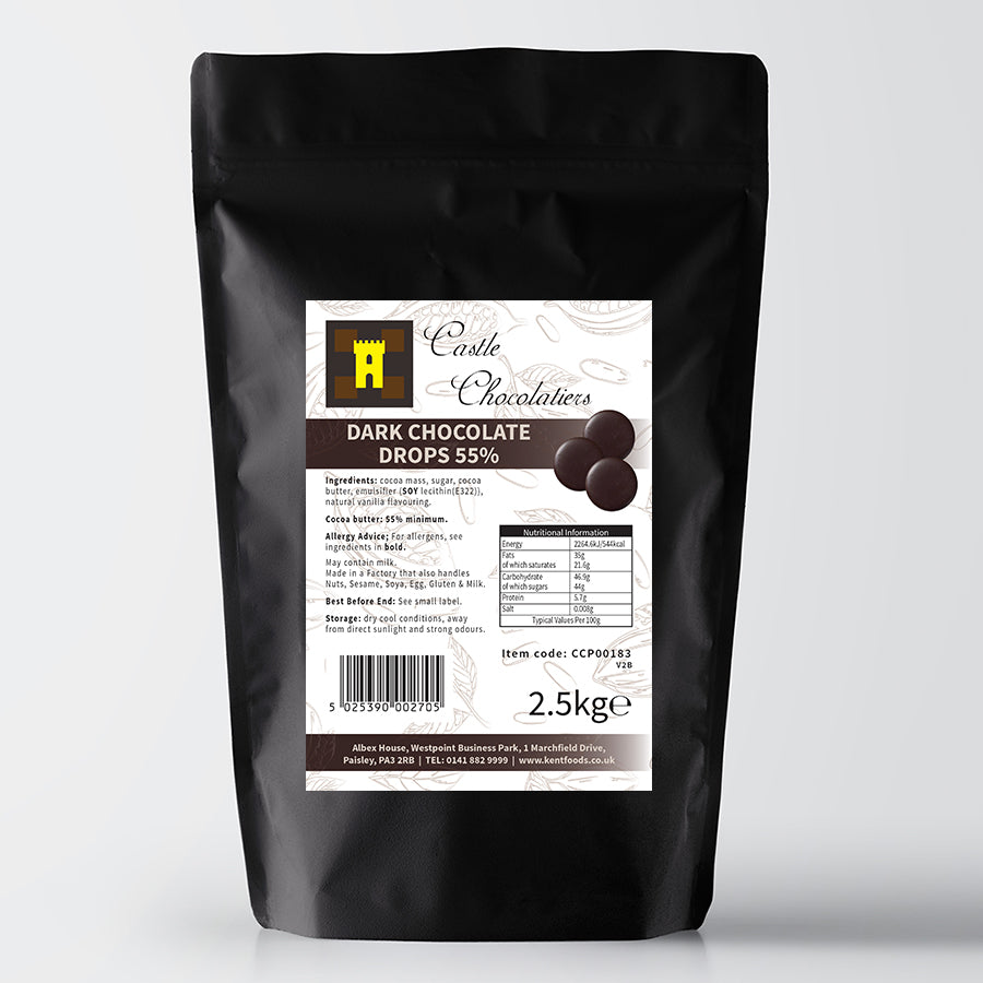 Continental Castle Chocolatiers Dark Chocolate Drops 2.5kg