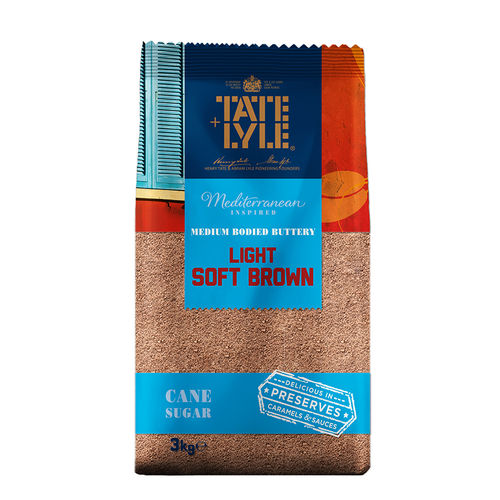 Tate & Lyle Soft Light Brown Sugar 4x3kg - The Artisan's Choice