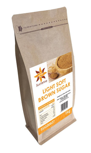 Sucranna Light Soft Brown Sugar 1kg