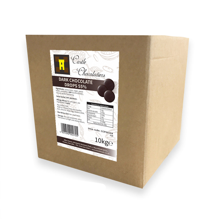 Continental Castle Chocolatiers (55%) Dark Chocolate Drops 10kg