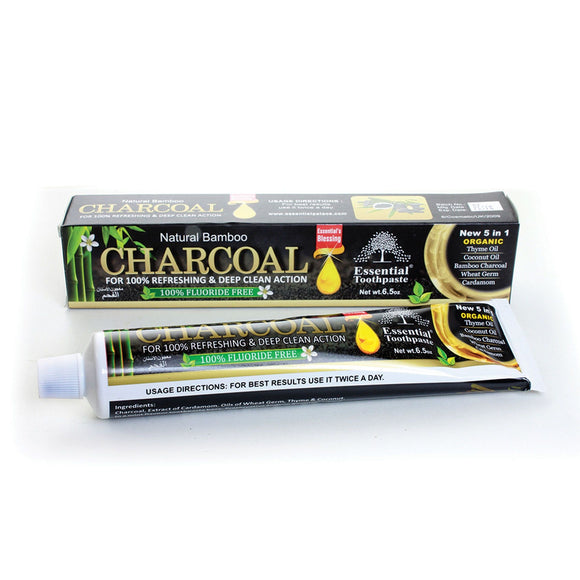 Charcoal toothpaste 5in1