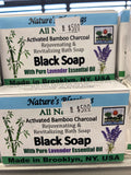 Activated Bamboo charcoal Black soap with Lavender