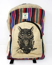 Load image into Gallery viewer, HEMP Owl Backpack