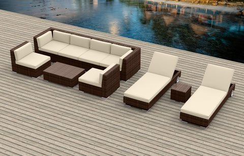 Brown Series 10a - Ultra Modern Wicker Patio Set ** Back-ordered. Available 8/15/2017**