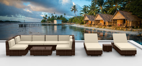 Brown Series 10a - Ultra Modern Wicker Patio Set