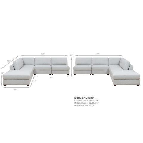 REED 10B Modular Deep Seating Sofa Sectional, 10-piece ***Back-Ordered. Available 1/2019***