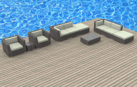 Brunei - 10pc Ultra Modern Wicker Patio Set