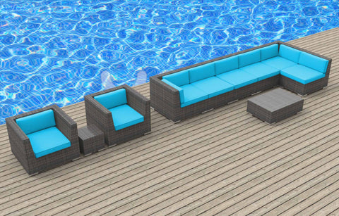 Manado - 10pc Ultra Modern Wicker Patio Set