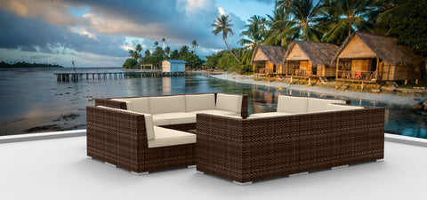 Brown Series 11a - Ultra Modern Wicker Patio Set