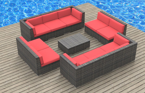 Bermuda - 11pc Ultra Modern Wicker Patio Set