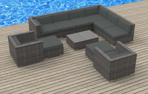 Aruba - 11pc Ultra Modern Wicker Patio Set