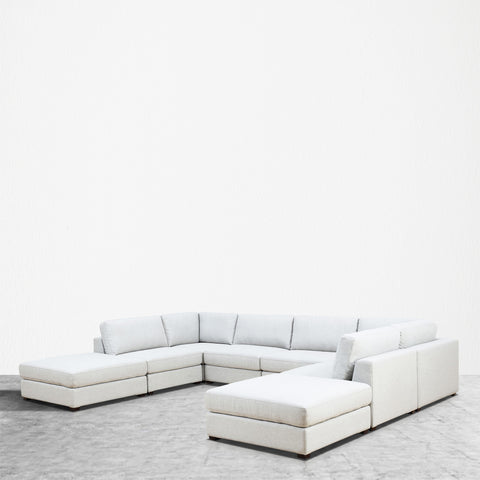REED 8B Modular Deep Seating Sofa Sectional, 8-piece