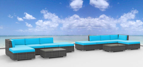 Laguna - 12pc Ultra Modern Wicker Patio Set