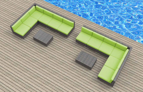 Venice - 14pc Ultra Modern Wicker Patio Set
