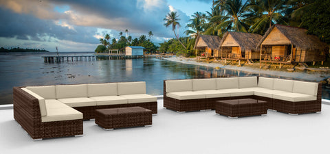 Brown Series 14a - Ultra Modern Wicker Patio Set