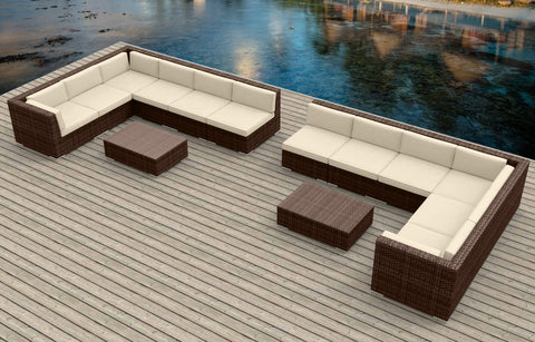 Brown Series 14b - Ultra Modern Wicker Patio Set