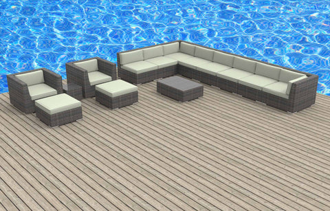 Newport - 14pc Ultra Modern Wicker Patio Set