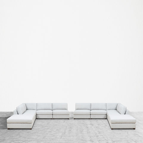 REED 10B Modular Deep Seating Sofa Sectional, 10-piece
