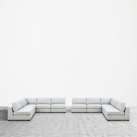 REED 10C Modular Deep Seating Sofa Sectional, 10-piece
