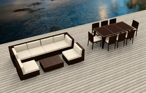 Brown Series 16 - Ultra Modern Wicker Patio Set