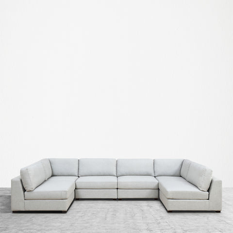 REED 6B Modular Deep Seating Sofa Sectional, 6-piece **Backorder - ETA 7/4/19**