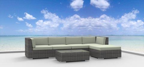 Malo - 6pc Ultra Modern Wicker Patio Set