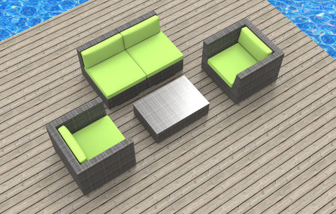 Belize - 5pc Ultra Modern Wicker Patio Set