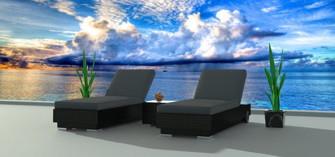 Black Series 3a - Ultra Modern Wicker Patio Set
