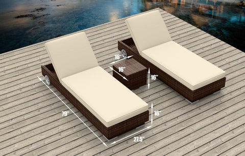 Brown Series 3a - Ultra Modern Wicker Patio Set