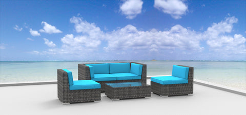 Rio - 5pc Ultra Modern Wicker Patio Set
