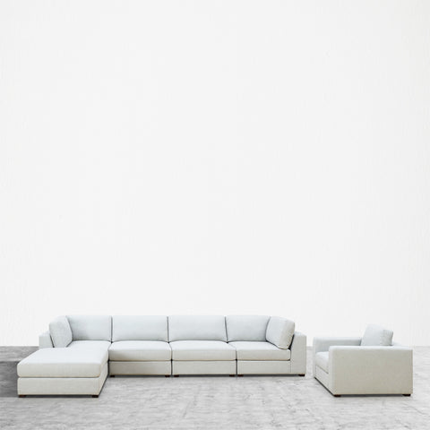 REED 6D Modular Deep Seating Sofa Sectional, 6-piece ***Back-Ordered. Available 1/2019***
