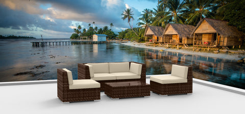 Brown Series 5 - Ultra Modern Wicker Patio Set