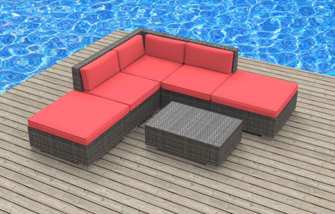 Bali - 6pc Ultra Modern Wicker Patio Set