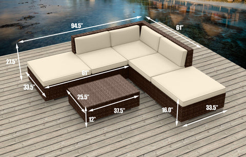 Brown Series 6a - Ultra Modern Wicker Patio Set