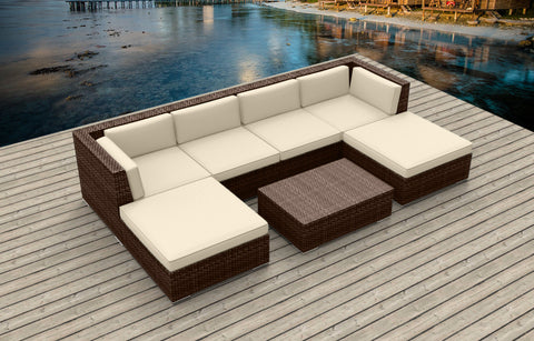 Brown Series 7a - Ultra Modern Wicker Patio Set
