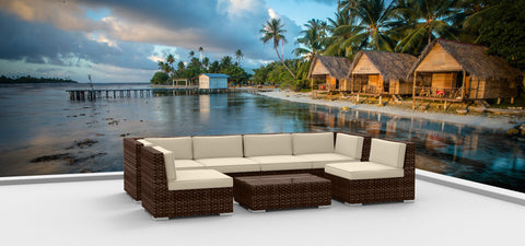 Brown Series 7b - Ultra Modern Wicker Patio Set **SOLD OUT**