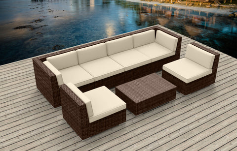 Brown Series 7b - Ultra Modern Wicker Patio Set