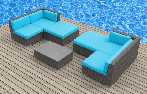 Hawaii - 7pc Ultra Modern Wicker Patio Set
