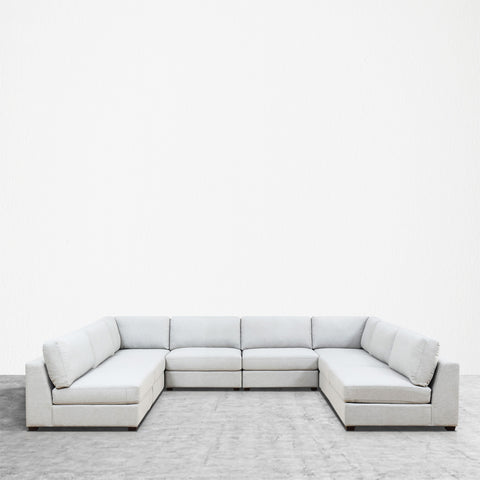 REED 8A Modular Deep Seating Sofa Sectional, 8-piece