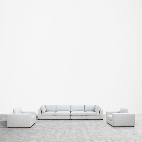 REED 6F Modular Deep Seating Sofa Sectional, 6-piece