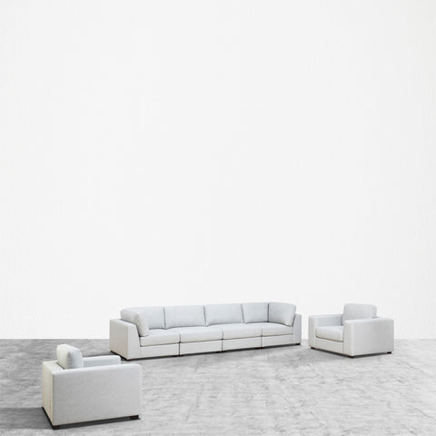 REED 6F Modular Deep Seating Sofa Sectional, 6-piece **Backorder - ETA 7/4/19**