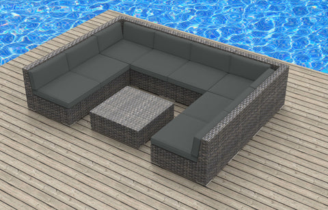 Tahiti - 9pc Ultra Modern Wicker Patio Set