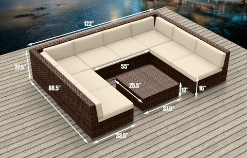 Brown Series 9b - Ultra Modern Wicker Patio Set