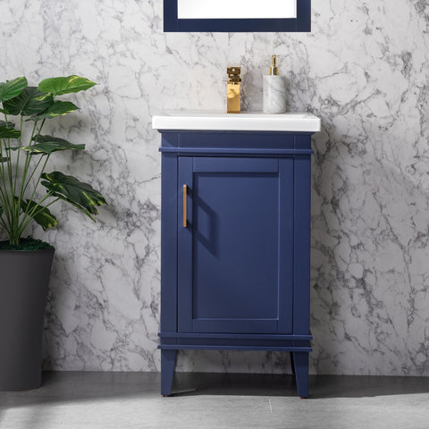 "Avery 20"" Single Bathroom Vanity Set - Navy Blue"