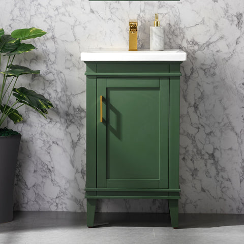 "Avery 20"" Single Bathroom Vanity Set - Vogue Green (SOLD OUT! PRE-ORDER NOW, SHIPS: 7/10/21)"