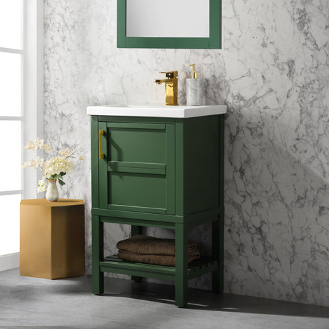 "Bailey 20"" Single Bathroom Vanity Set - Vogue Green (SOLD OUT! PRE-ORDER NOW, SHIPS: 7/10/21)"