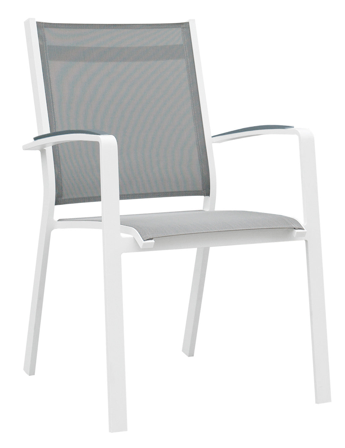 9 Piece Modern Patio Dining Set - Gray / White  sc 1 st  Urban Furnishing : outdoor patio dining chairs - thejasonspencertrust.org